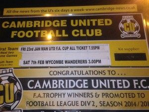 Manchester United visit Cambridge